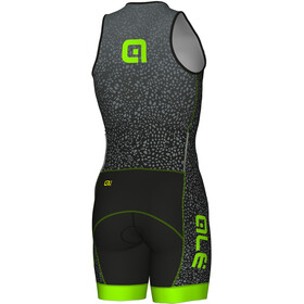 Alé Cycling Long Triathlon Kilawea Traje Triatlón Hombre, black-grey-fluo green